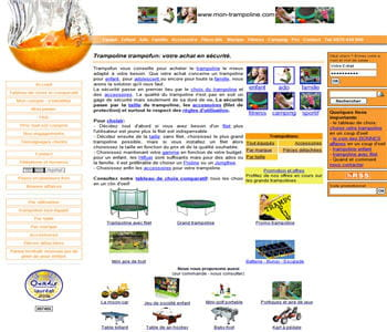 home page de mon-trampoline.com