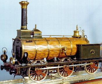 maquette de la locomotive à vapeur gironde, construite en 1848.