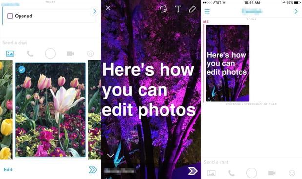 Modifier les photos pré-enregistrées