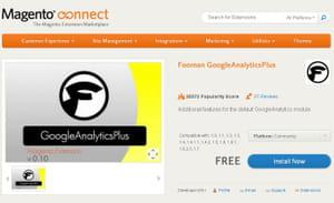 l'extension fooman googleanalyticsplus est proposée gratuitement sur la boutique