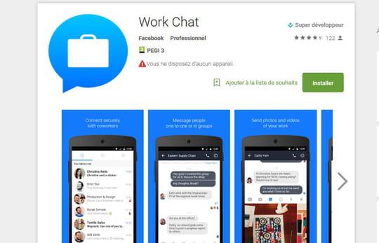 Work Chat : Facebook sort une app de messagerie instantanée pour les pros