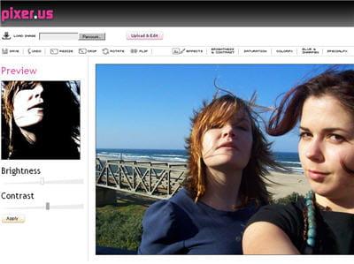 le site pixer.us propose toutes les fonctions d'améliorations de photos basiques