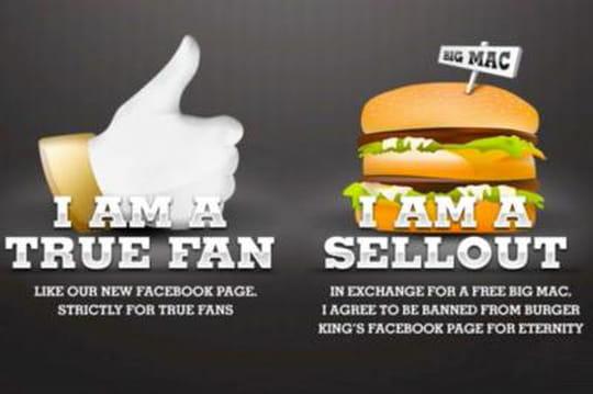 Burger King désabonne les fans qui lui préfèrent McDonald's sur Facebook