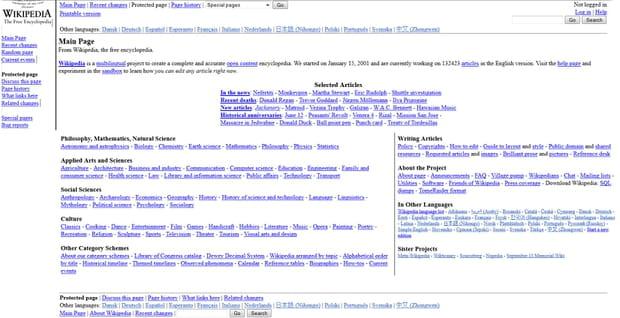 Wikipedia en 2003