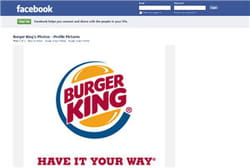 la page burger king sur facebook