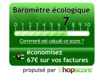 hop-cube propose aux sites marchands d'afficher son baromètre écologique