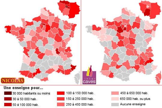 Vins: Nicolas surpuissant en Ile-de-France, Intercavesdomineenprovince