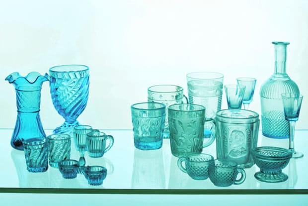 Collection verre bleu