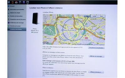 service de localisation de l'iphone