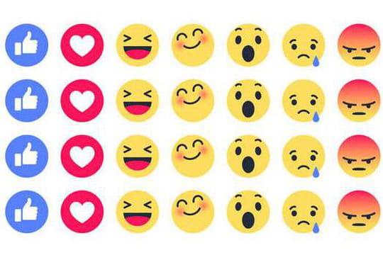A défaut d'un bouton dislike, Facebook teste les émoticônes