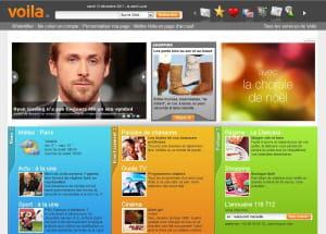capture d'écran de voila.fr
