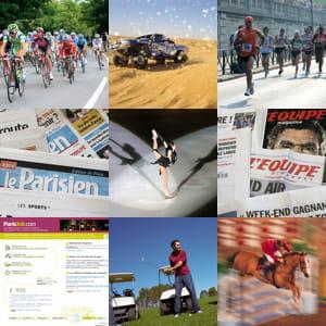 le groupe amaury organise 18 événements sportifs et édite 10 titres de presse.