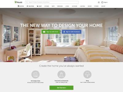 houzz combine un réseau social, un annuaire de professionnels et une marketplace