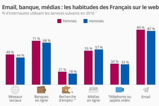 Infographie: les services en ligne les plus utilisés en France