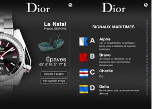 l'application iphone de dior