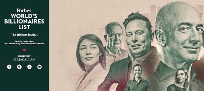 Classement Forbes: les hommes les plus riches du monde