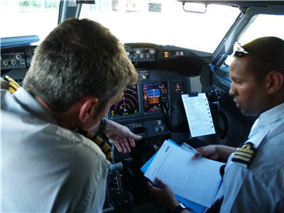 pilotes du boeing 737-800