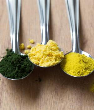 les algues chlorelle fournissent des farines végétales riches en nutriments.