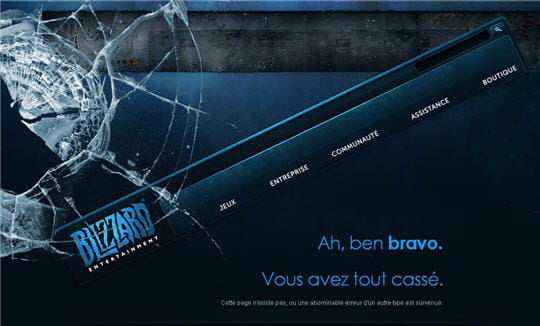 Erreur 404 Blizzard