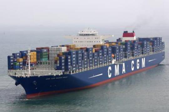 Marco Polo, le plus grand porte-conteneurs dumonde