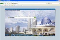 copie d'écran de la page d'accueil de microsoft live search