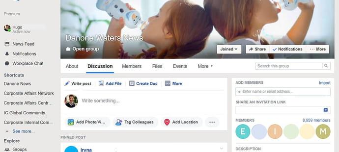 Dans Facebook Workplace, il y a tout Danone