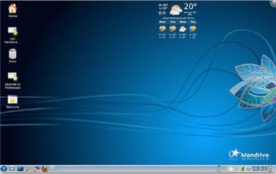 capture d'écran de l'interface de la distribution open source mandriva.