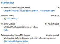 le travail de maintenance devrait être facilité avec windows 7, surtout au