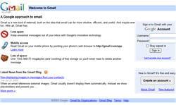 copie d'écran de gmail.