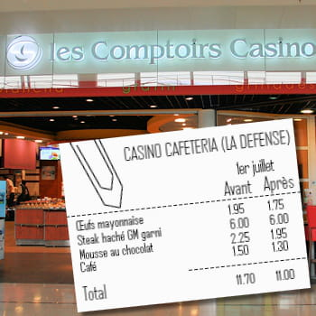 exemple d'addition avec certaines des plus fortes baisses relevées au casino