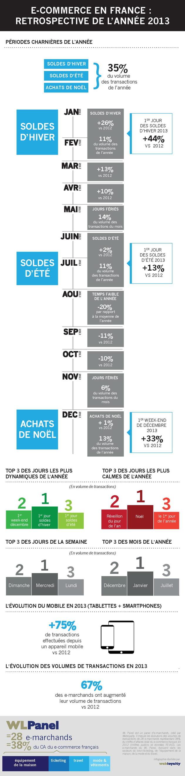 infographie wlpanel bilan ecommerce 2013