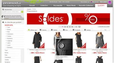 rubrique 'soldes' du site promod.fr