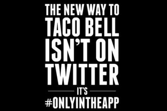 Taco Bell lâche Facebook et Twitter pour promouvoir son application