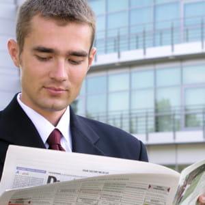 le survol est souvent utilisé pour parcourir un journal.