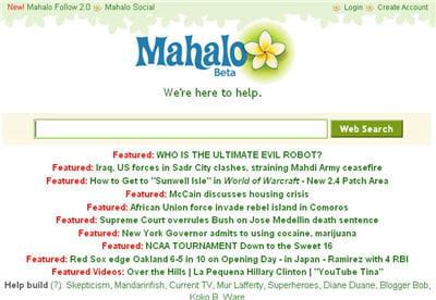moteur de recherche mahalo