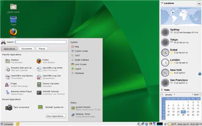capture d'écran de la distribution open source novell suse linux