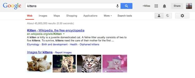 google bar screenshot