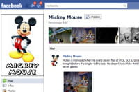 disney a créé une page fan pour chacun de ses personnages. ici, celle de mickey