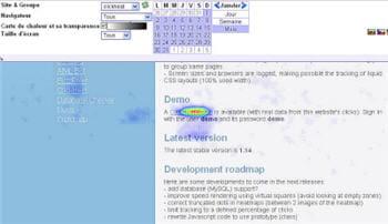 sur le site de clickheat, les internautes sont très curieux de découvrir la