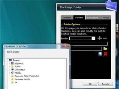 le dossier magique se place sur votre bureau et permet de garder votre