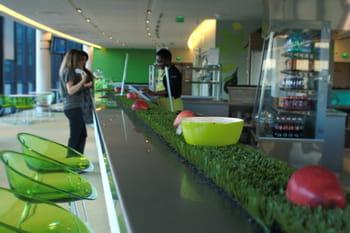 le campus de microsoft compte trois restaurants d'entreprise, tous déclinés
