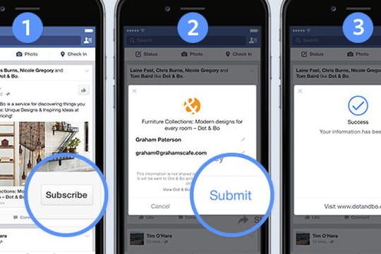 Facebook lance des formats publicitaires au lead
