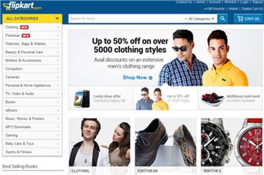 L'e-marchand indien Flipkart lève 200 millions de dollars