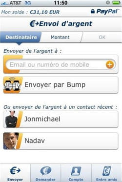 la nouvelle application paypal