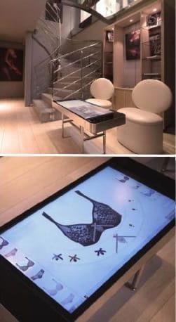 table tactile de l'atelier lingerie d'empreinte