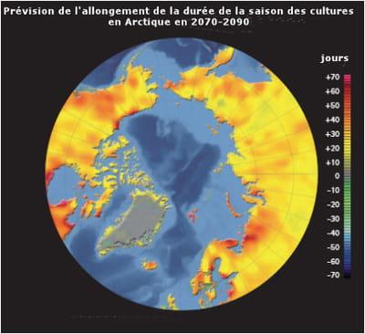 les prévisions de l'amap (arctic monitoring and assessment programme) montrent