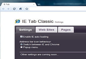 equivalente d'ie tab, l'extension chrome ie tab classic permet également