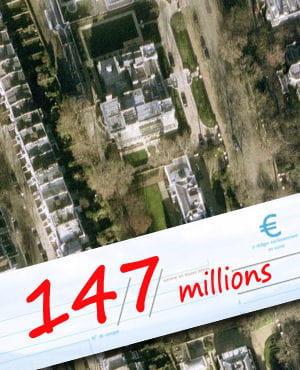 une vue aérienne de kensington palace à londres.