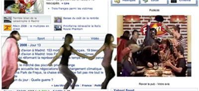 capture d'écran de la campagne display réalisée pour flam's en octobre 2008.