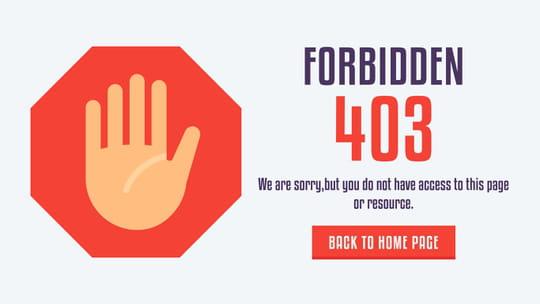 Erreur 403: définition et solution